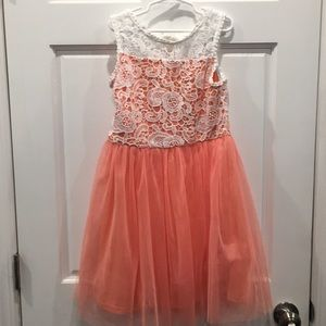Beautiful Sequin hearts girls dress, size 12